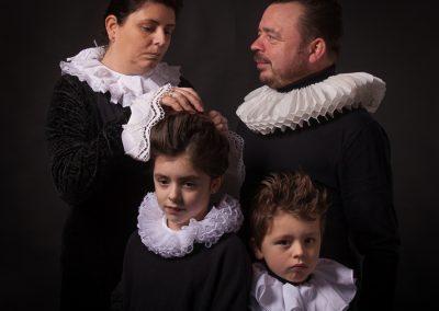 Fotoshoot, met licht in de stijl van Rembrandt